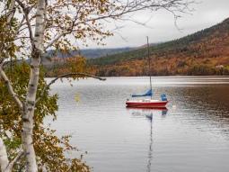 sail boat in the lake